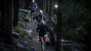 Leadville Trail 100 running in dark Glen Delman photo